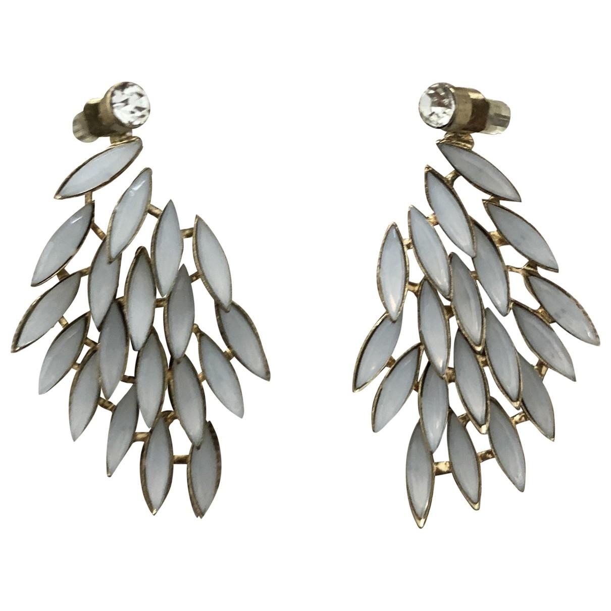 Non Signé / Unsigned \N Navy Metal Earrings for Women \N