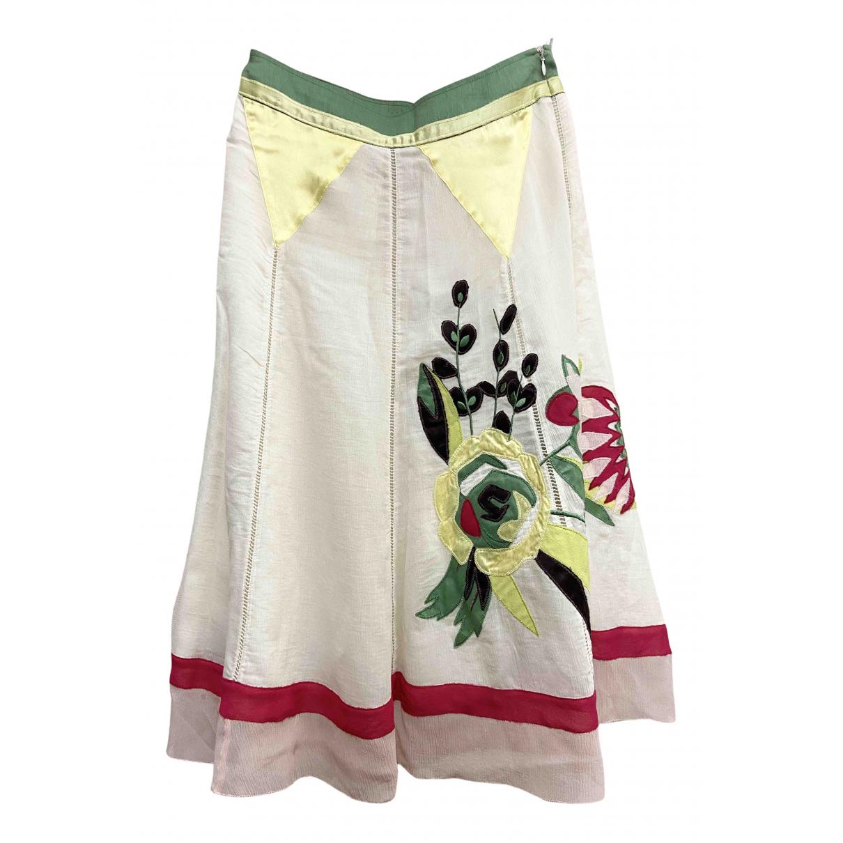 Kenzo - Jupe   pour femme en soie - beige