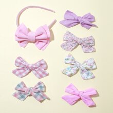 7pcs Toddler Girls Floral Pattern Hair Accessory