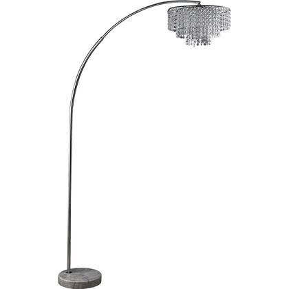 BM208095 Contemporary Metal and Crystal Arch Floor lamp with Marble Base
