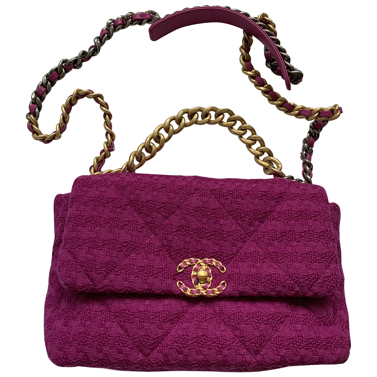 Chanel Chanel 19 Pink Tweed handbag for Women \N