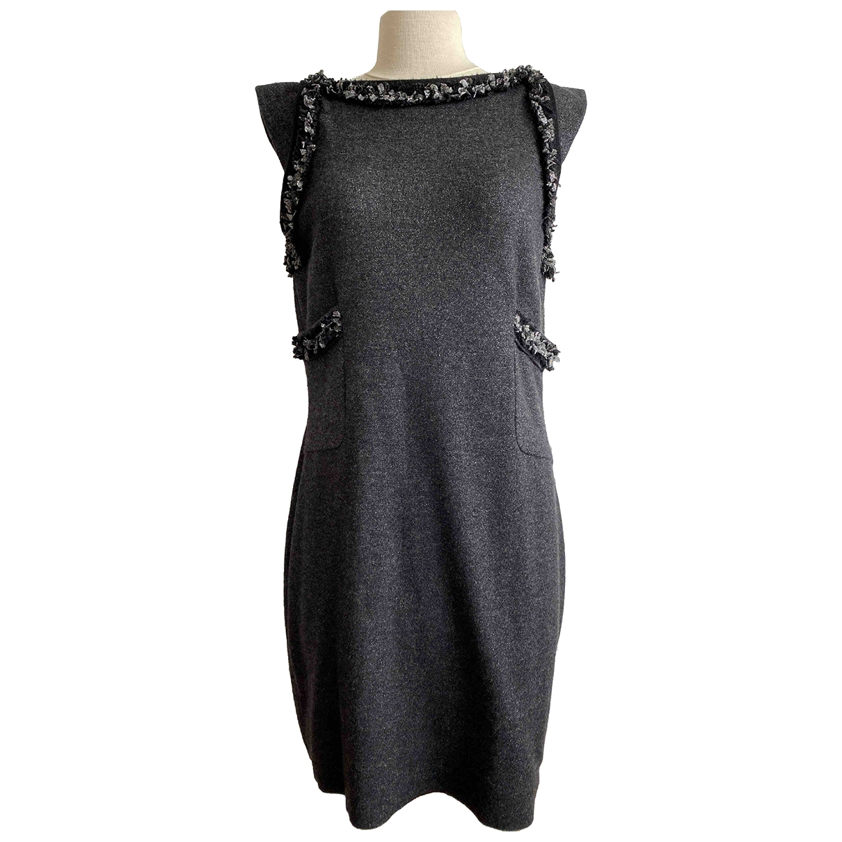 Chanel \N Kleid in  Anthrazit Kaschmir