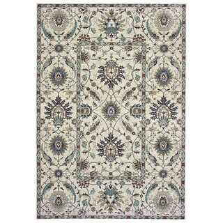New Traditions Floral Dense Pile Area Rug (7'10