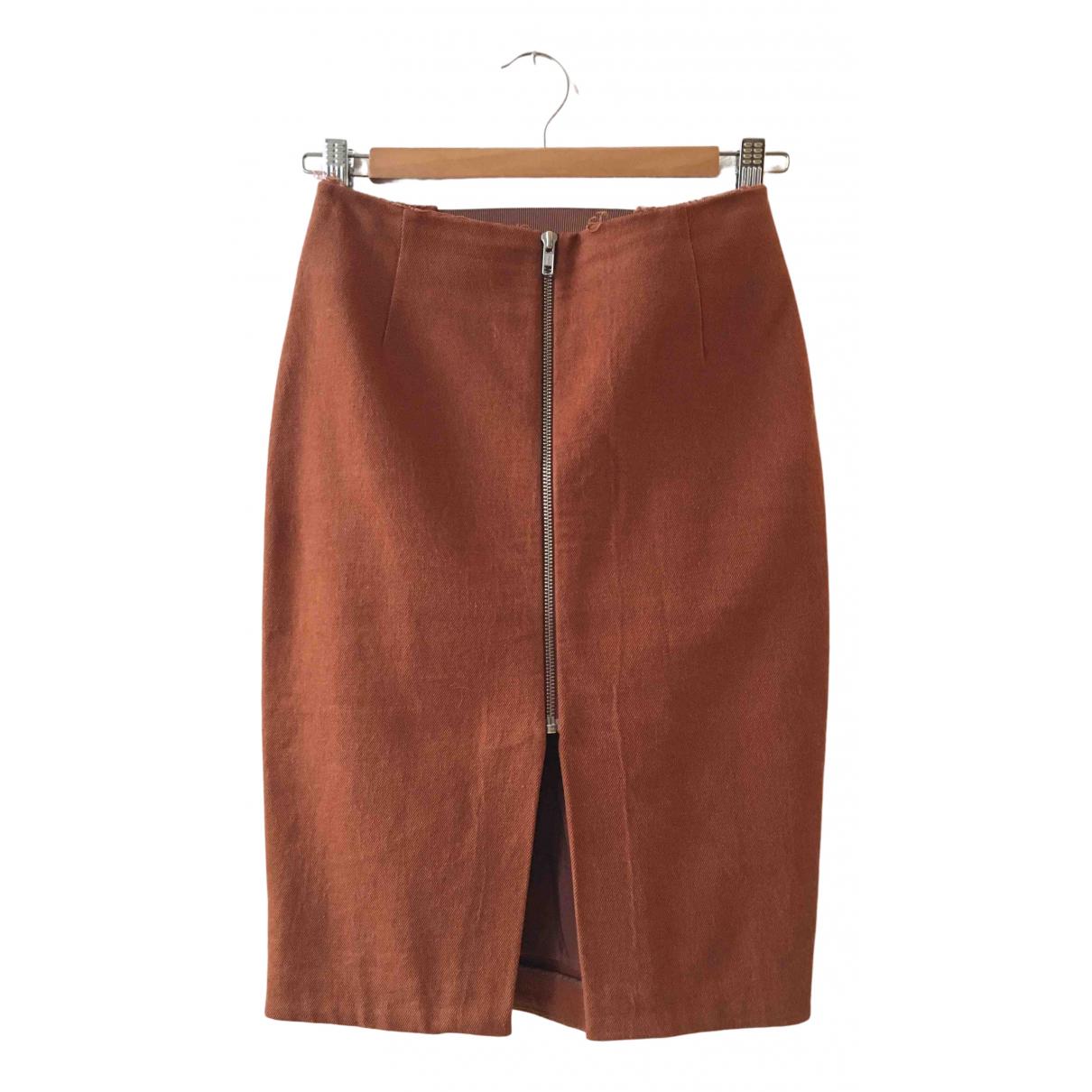 Acne Studios - Jupe   pour femme en coton - orange