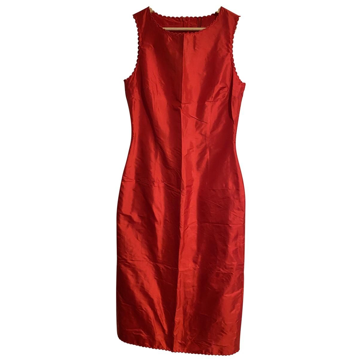 Hugo Boss - Robe   pour femme en soie - rouge