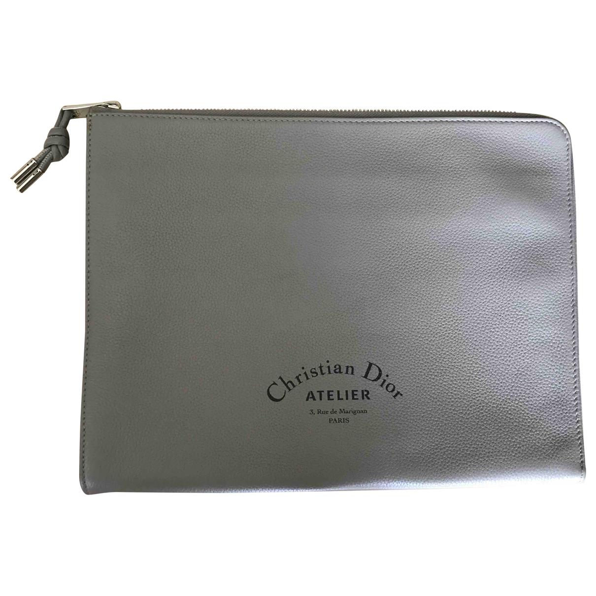 Dior Homme \N Kleinlederwaren in  Grau Leder