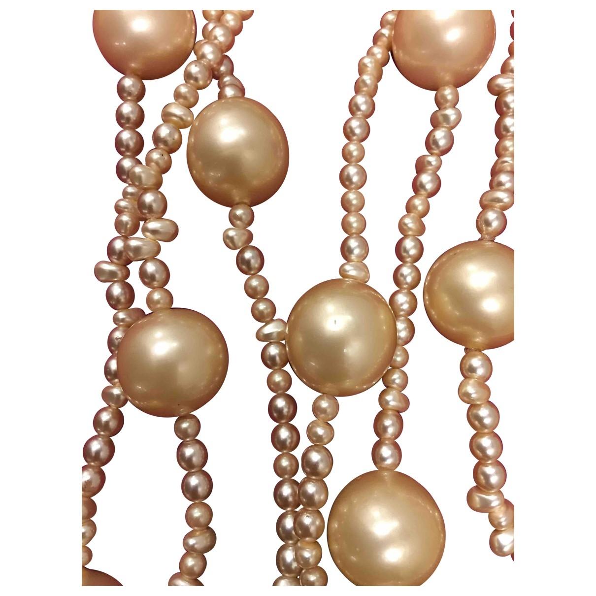 - Sautoir Nacre pour femme en perles - ecru