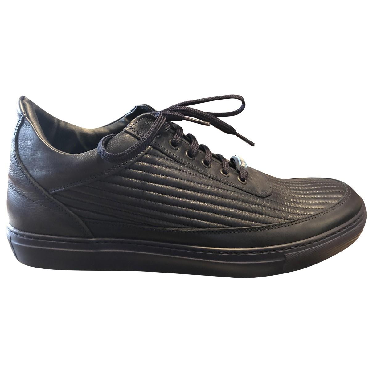 Baldinini - Baskets   pour homme en cuir - noir