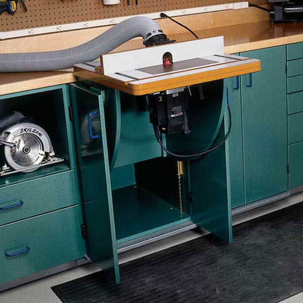 Woodworking Project Paper Plan to Build Lift-Up Router & Tool Table