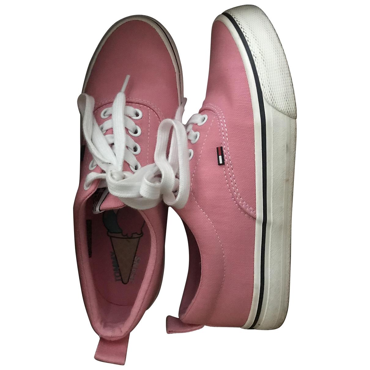 Tommy Jean - Baskets   pour femme en toile - rose