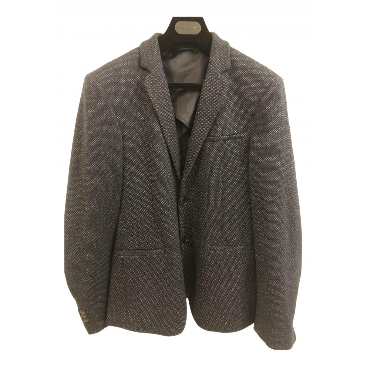Zara - Vestes.Blousons   pour homme en laine - marine