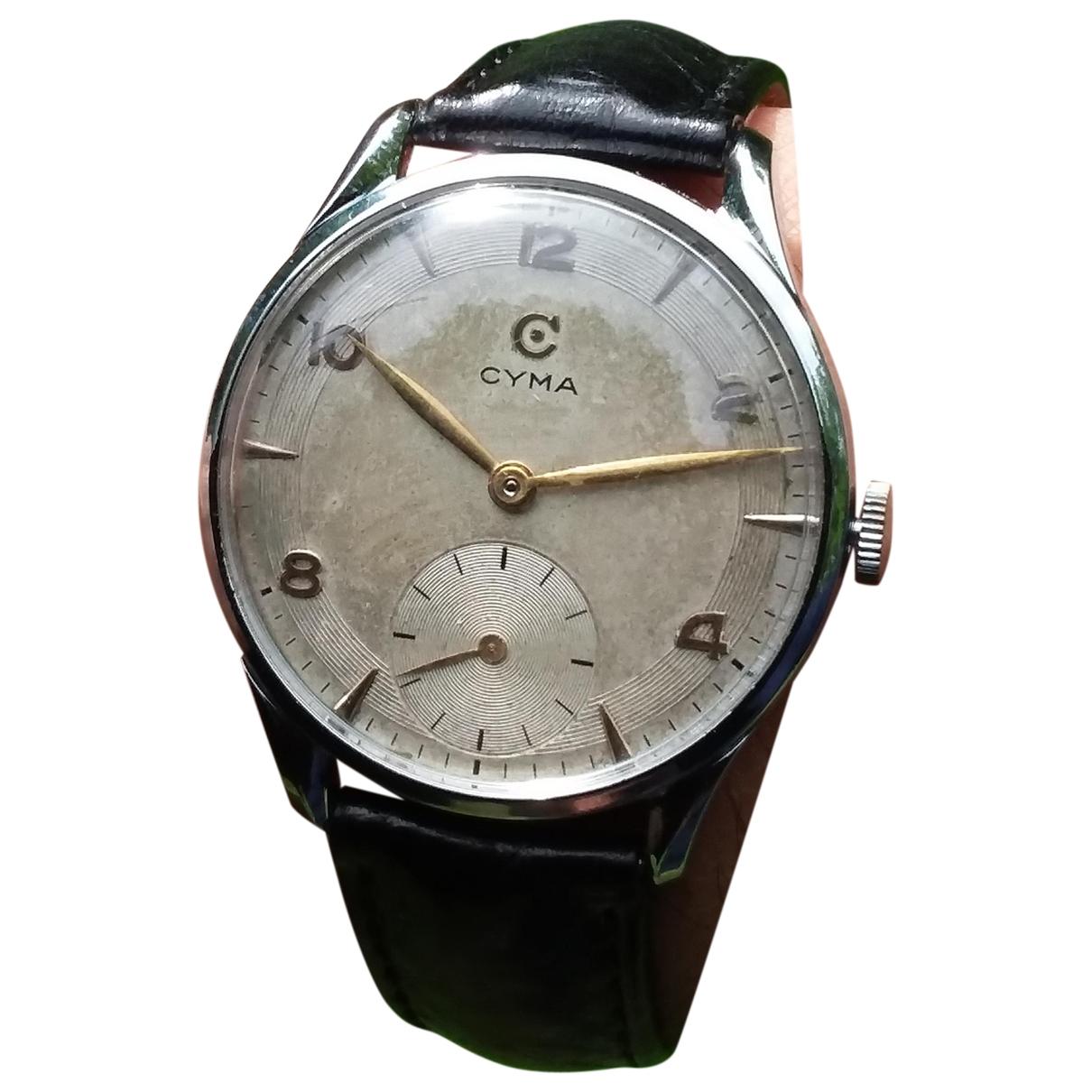 Cyma \N Metallic Steel watch for Men \N