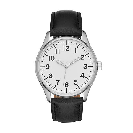 Opp Mens Black Strap Watch-Fmdjo126, One Size , No Color Family