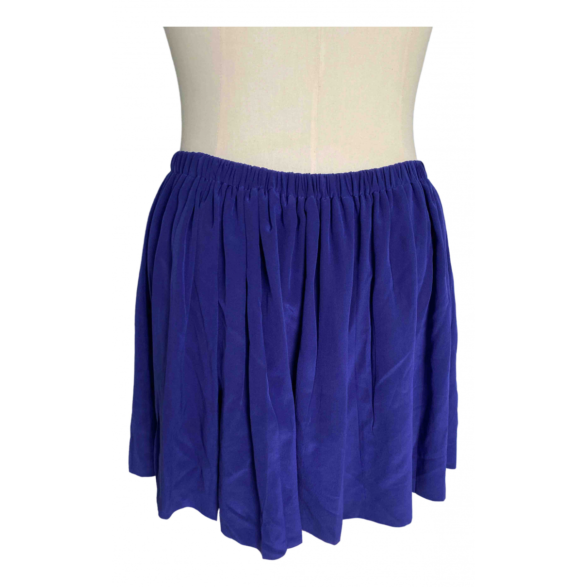 Miu Miu \N Purple Silk skirt for Women 40 IT