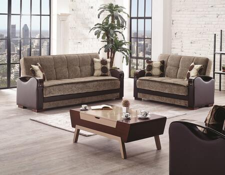 Rochester Collection SBROCHESTERSET 3 PC Living Room Set with Sofa + Loveseat + Chair in Brown