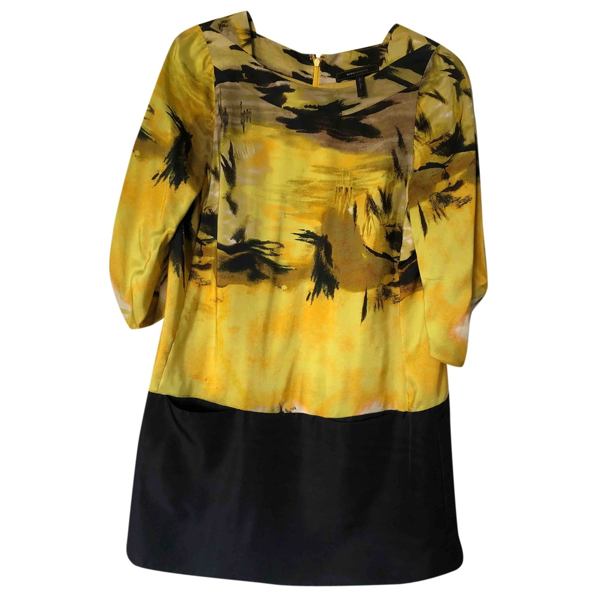 Bcbg Max Azria \N Kleid in  Gelb Seide