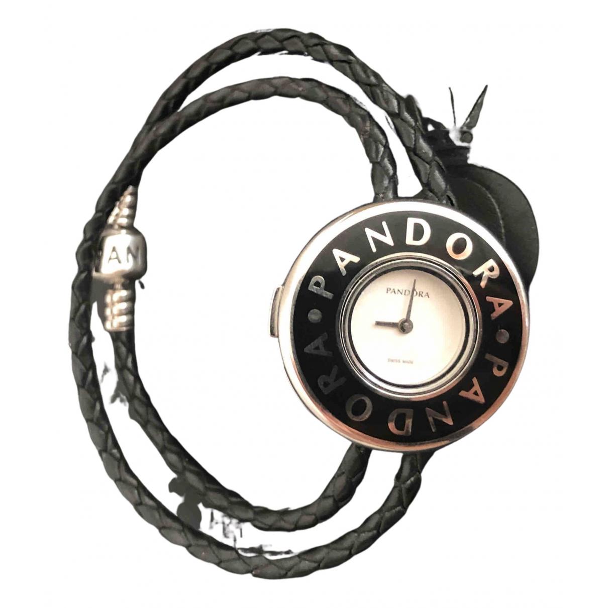 Pandora \N Uhr in  Schwarz Stahl