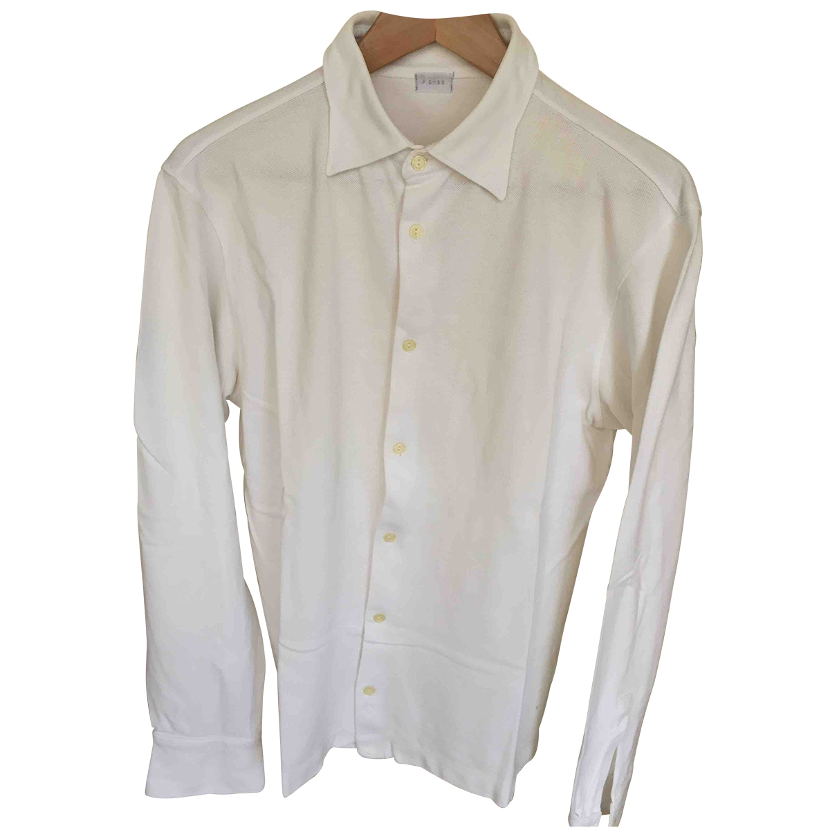 Piombo - Chemises   pour homme en coton - blanc