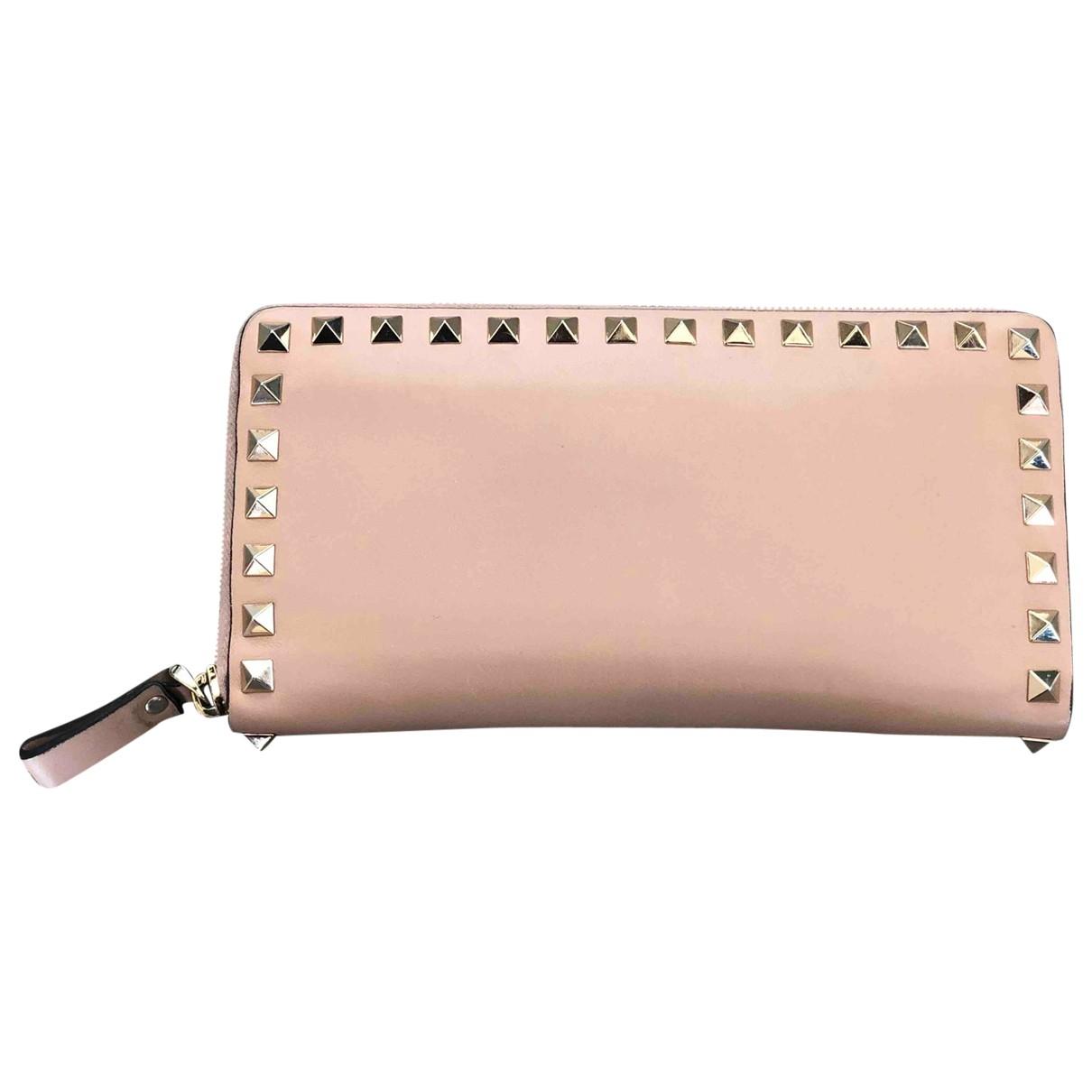Valentino Garavani \N Beige Leather wallet for Women \N