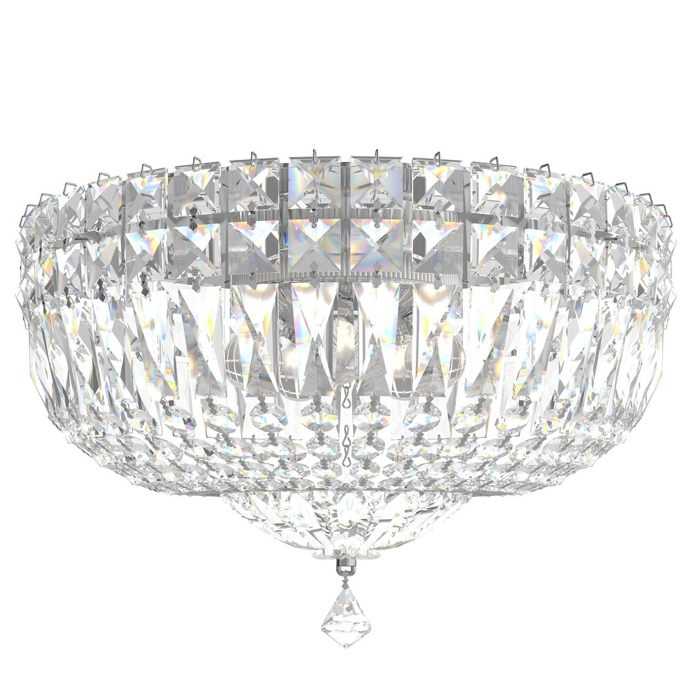 Petit Crystal Deluxe 5 Light   Silver Clear Gemcut Crystal - One Size (One Size - Clear)