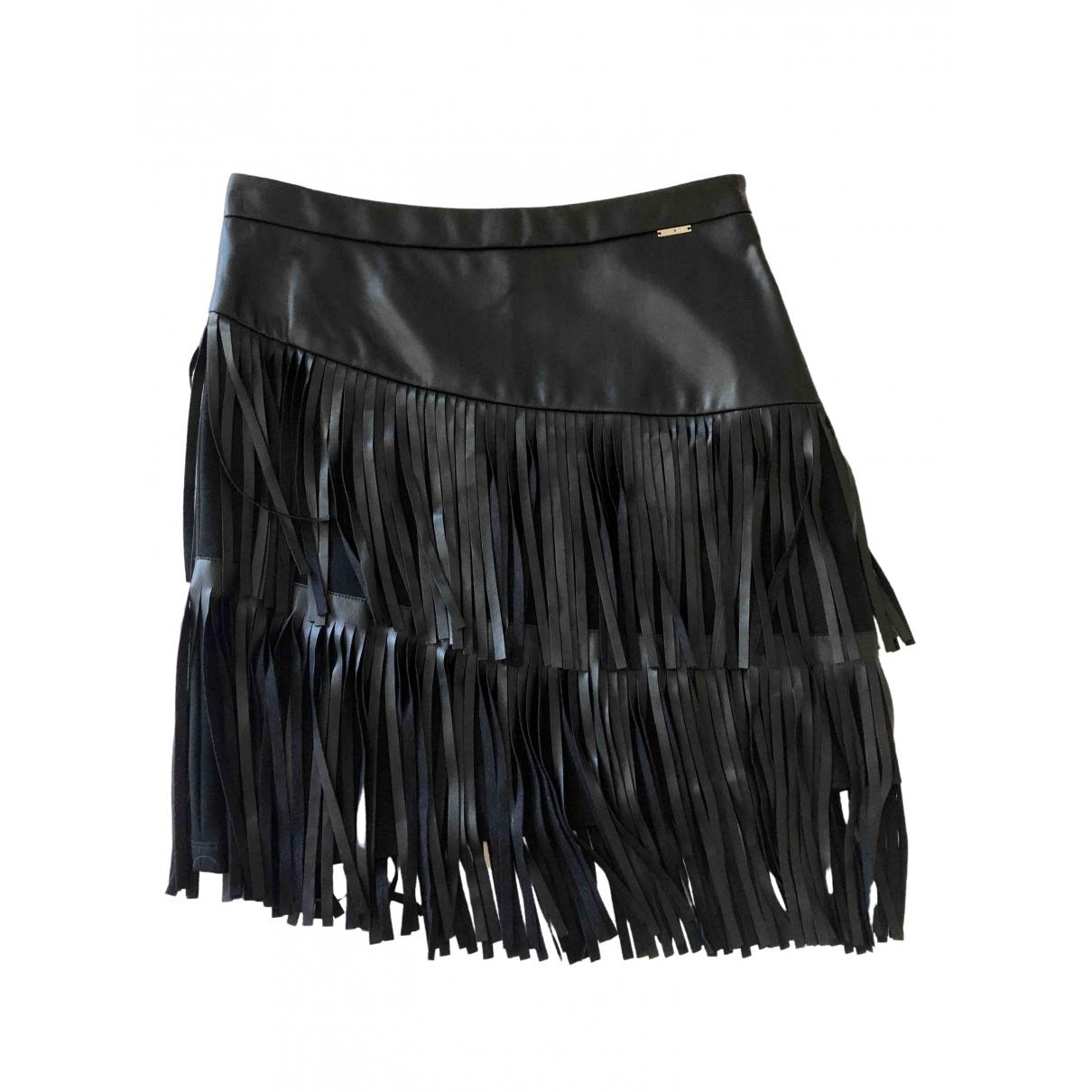 Liu.jo \N Black Leather skirt for Women 42 IT