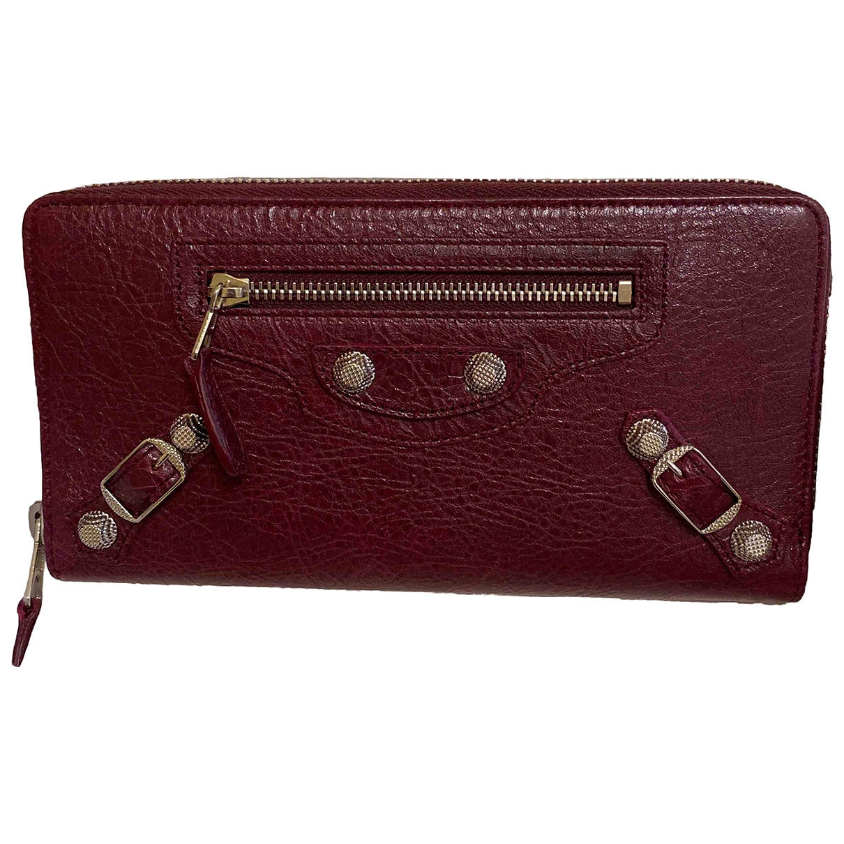 Balenciaga \N Burgundy Leather wallet for Women \N
