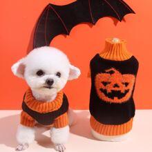 Jersey de perro con patron de halloween