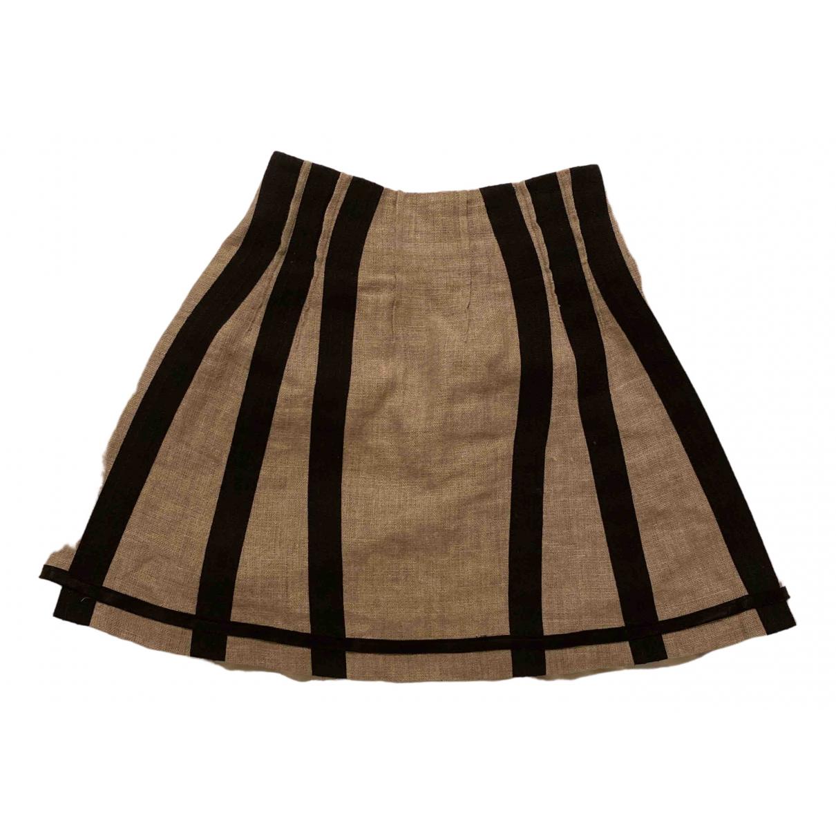 D&g N Beige Linen skirt for Women 38 IT