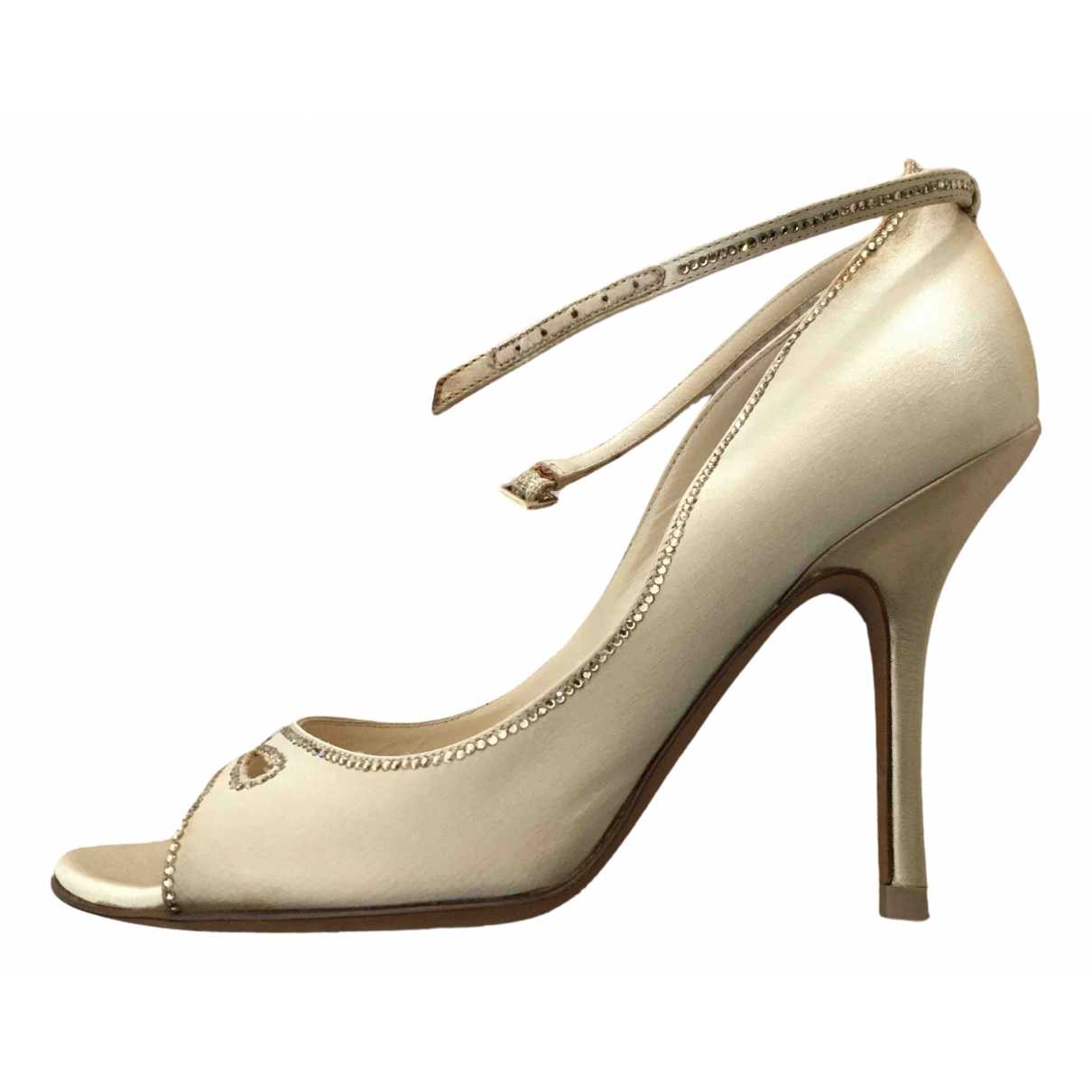 Jimmy Choo \N Pumps in  Gold Leinen