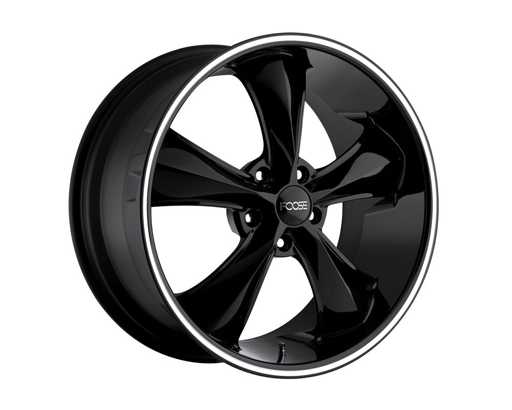 Foose F104 Legend Gloss Black w/ Lip Groove 1-Piece Cast Wheel 20x8.5 5x127 07mm