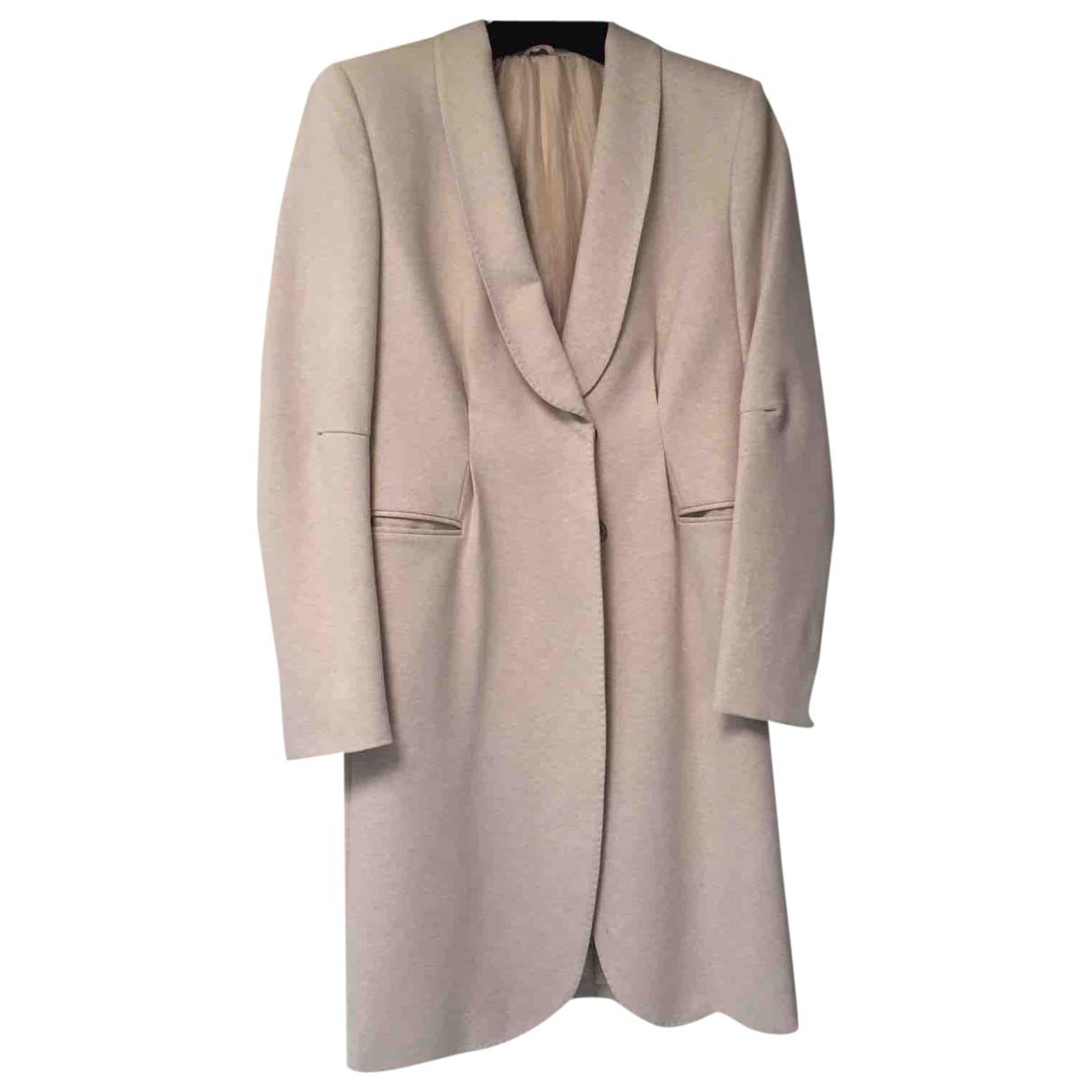 Brunello Cucinelli \N Beige Silk coat for Women 42 IT