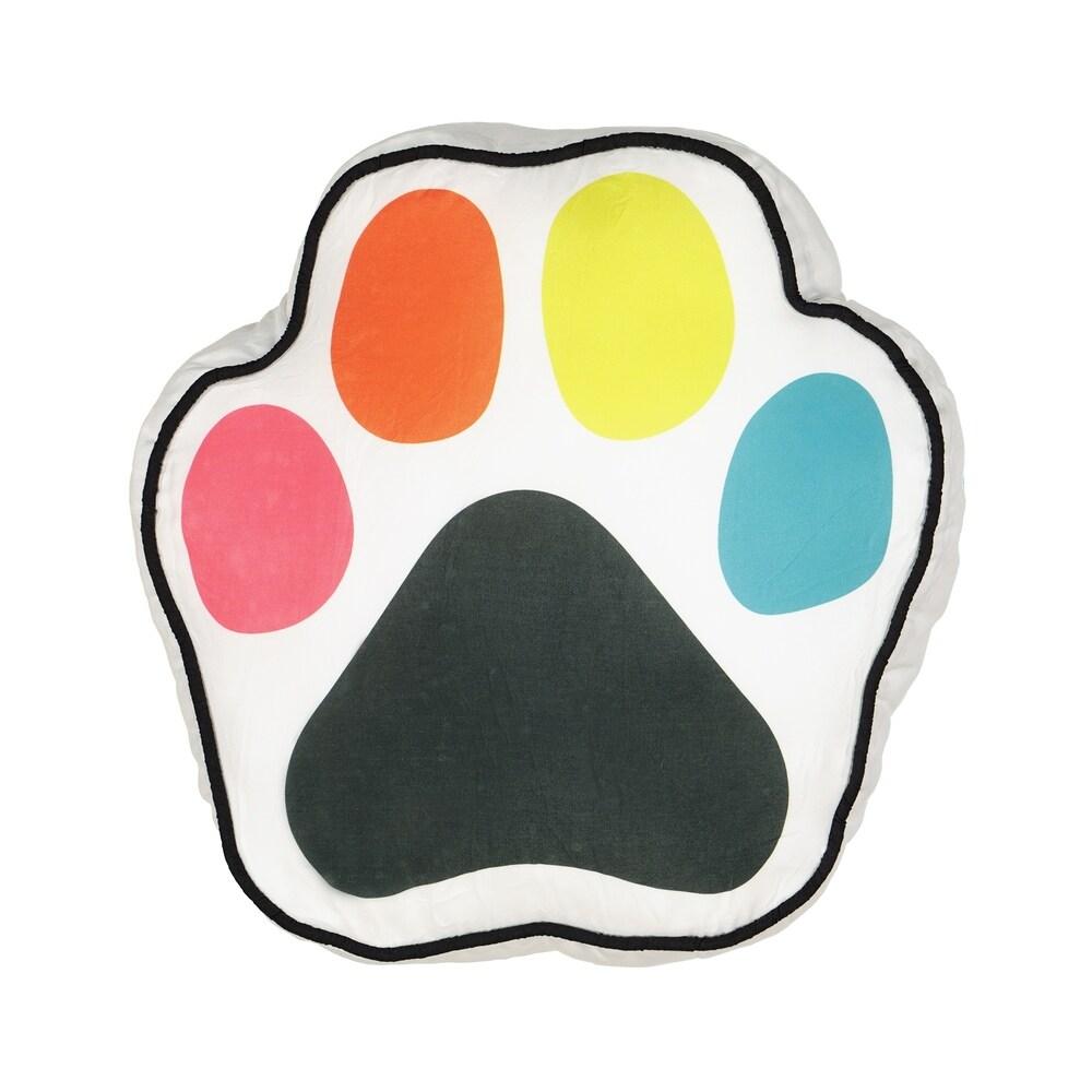 Waverly Kids Adogable Paw Print Novelty Decorative Pillow (Single - Polyester - Accent)