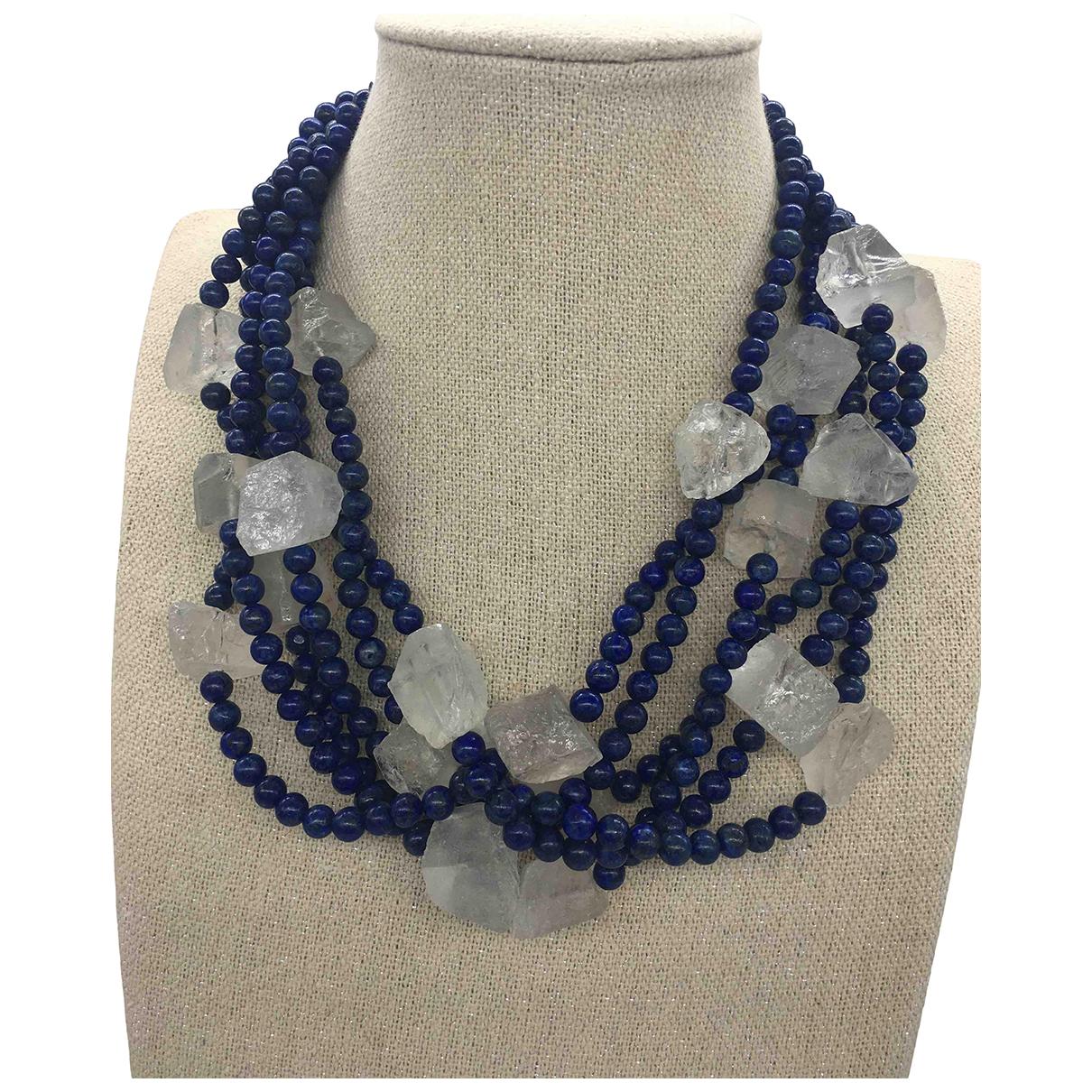 - Collier   pour femme en perles - bleu