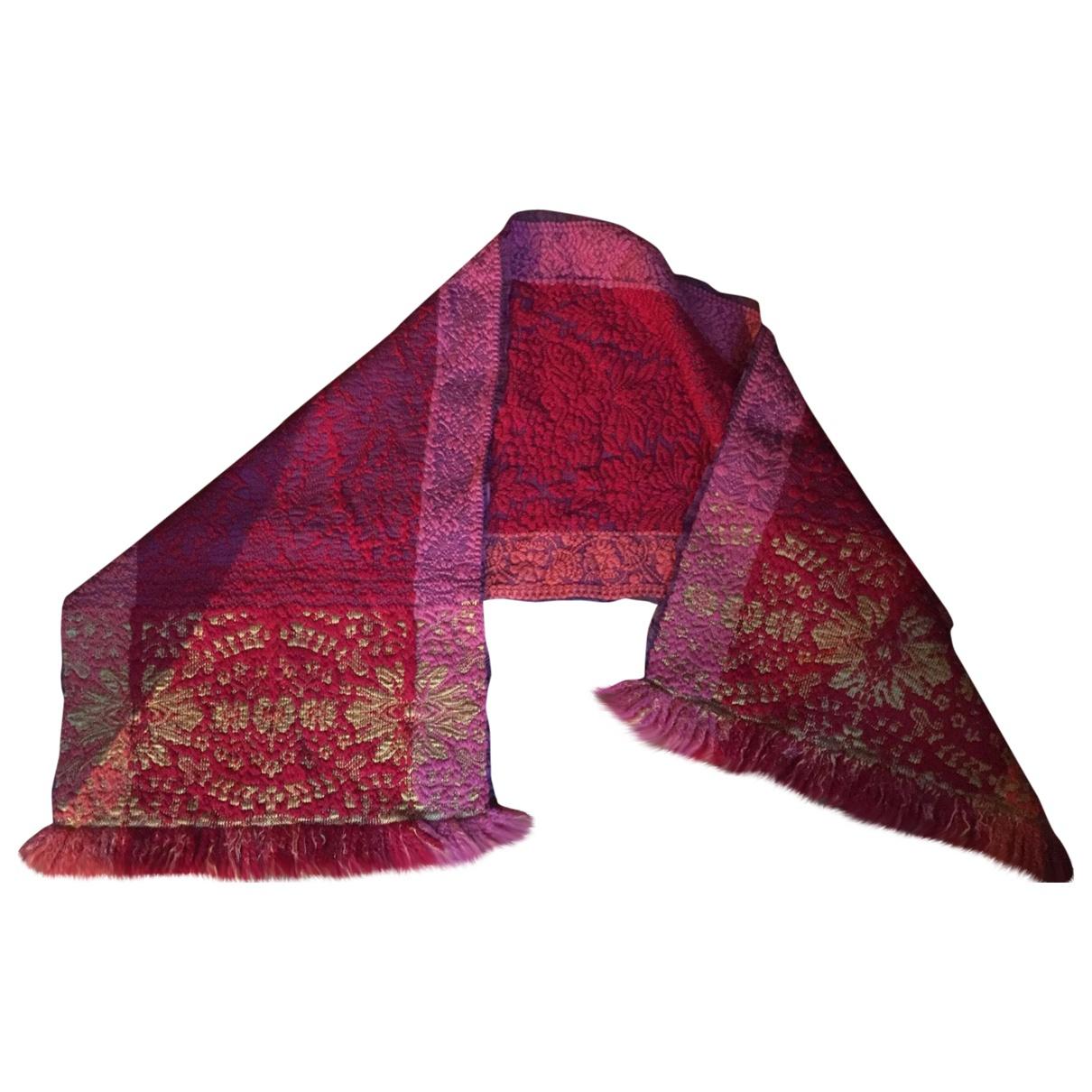 Kenzo - Foulard   pour femme en laine - rouge