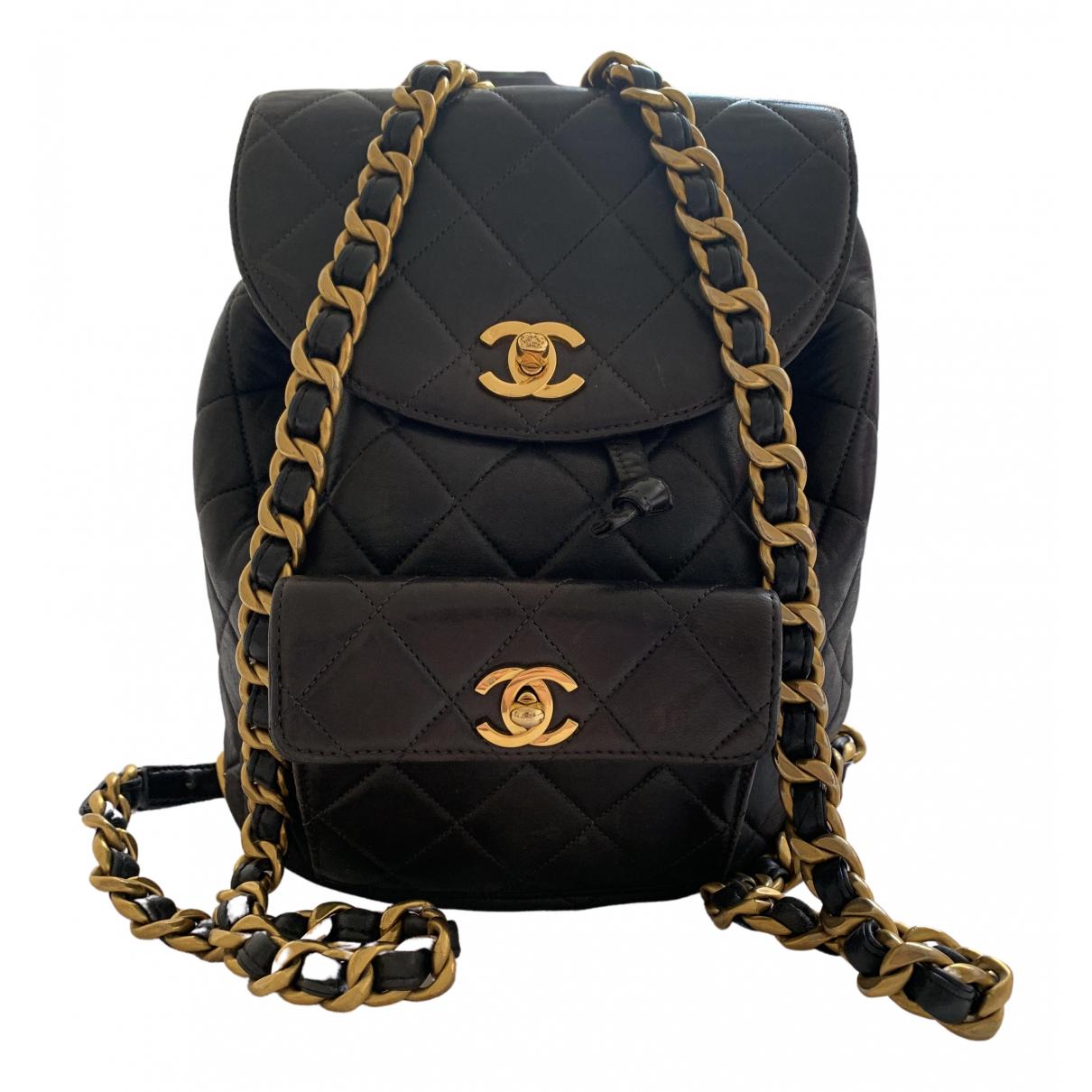 Chanel - Sac a dos Duma pour femme en cuir - noir