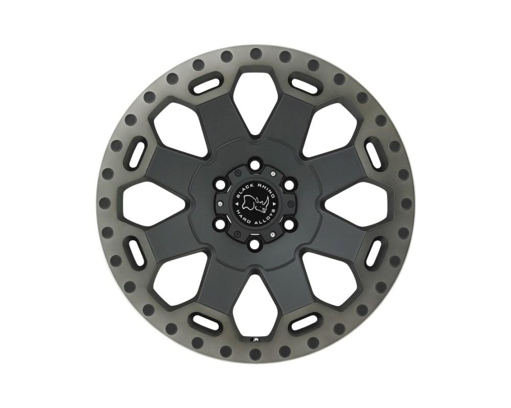 Black Rhino Warlord Matte Black w/ Machined Dark Tint Lip Wheel 20x9 5x127|5x5 -12mm CB71.6