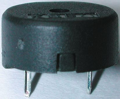 RS PRO Maximum of 30 V ac 80dB Through Hole Continuous External Piezo Buzzer, Maximum of 4000 Hz (5)