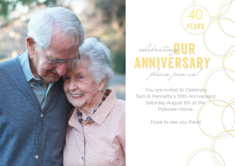 Anniversary 5x7 Cards, Premium Cardstock 120lb with Rounded Corners, Card & Stationery -Entwined Rings