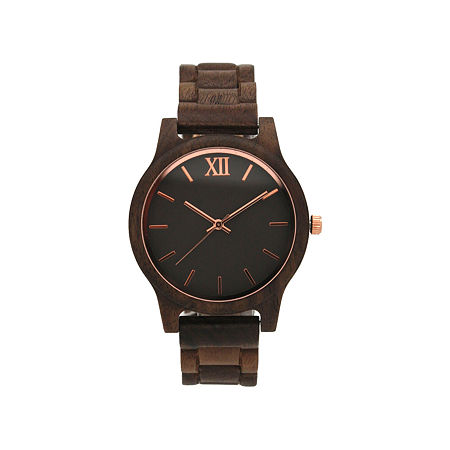 Olivia Pratt Womens Brown Strap Watch-A917397darkbrown, One Size , No Color Family