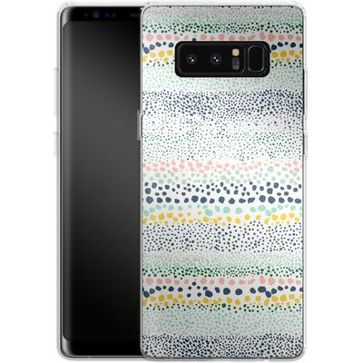 Samsung Galaxy Note 8 Silikon Handyhuelle - Little Dots Textured White von Ninola Design