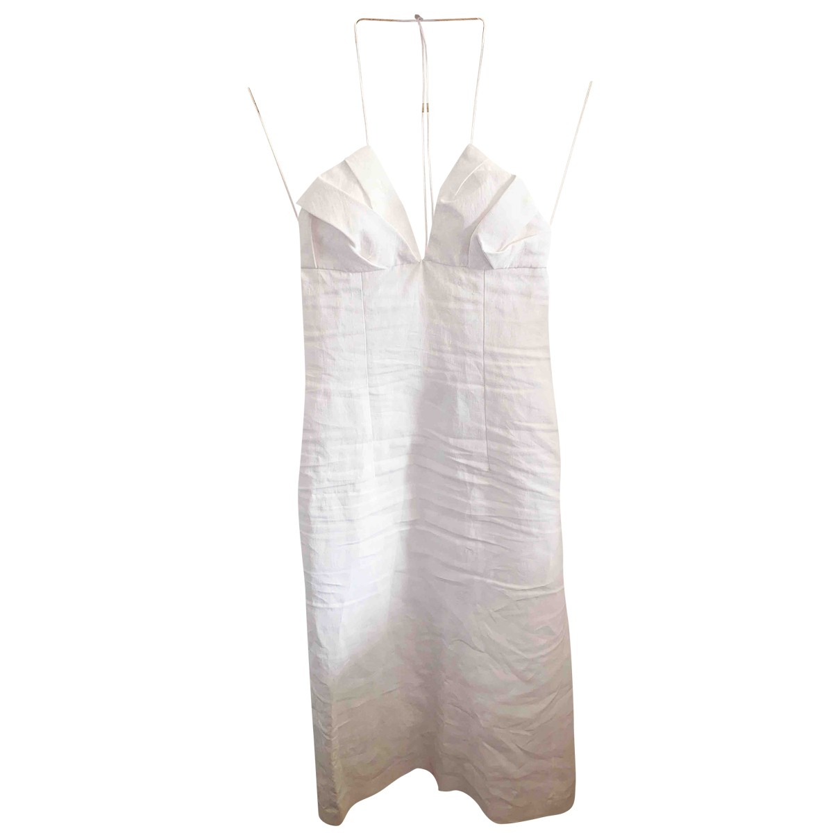 Jacquemus La Riviera White Cotton dress for Women 34 FR