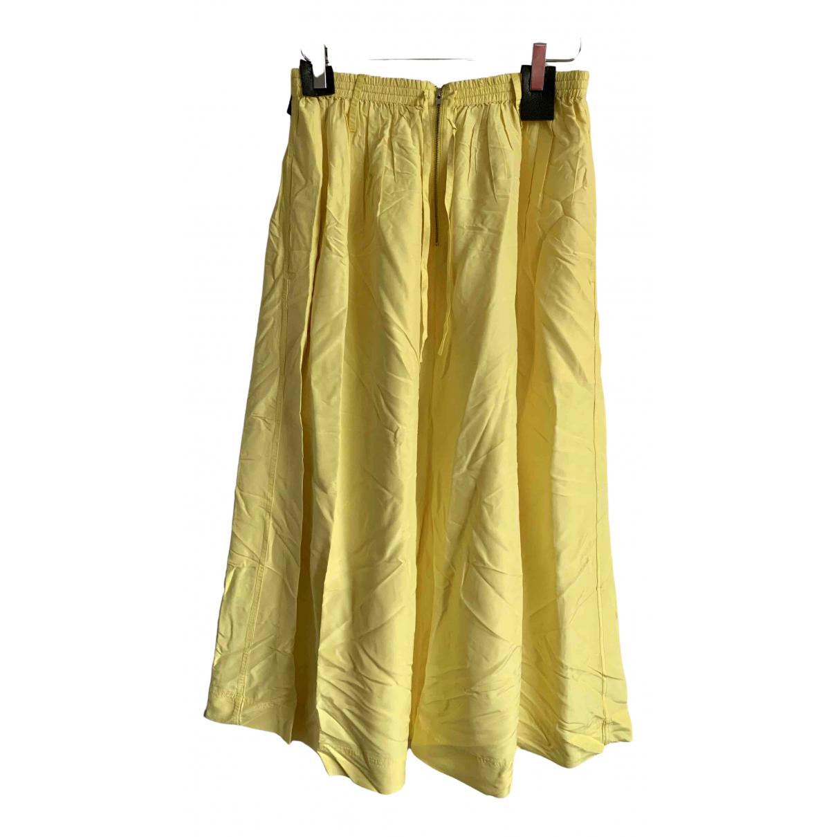 Joseph - Jupe   pour femme en soie - jaune