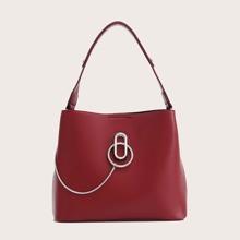 Metal Decor Bucket Bag