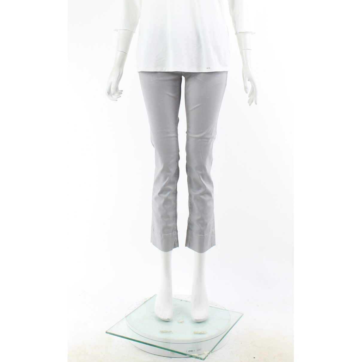 Pantalon en Algodon Gris Karl Lagerfeld