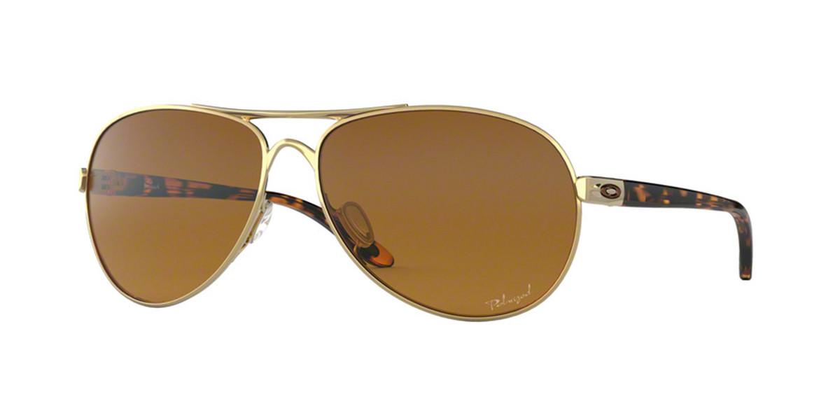Oakley OO4079 FEEDBACK Polarized 407911 Women's Sunglasses Gold Size 59