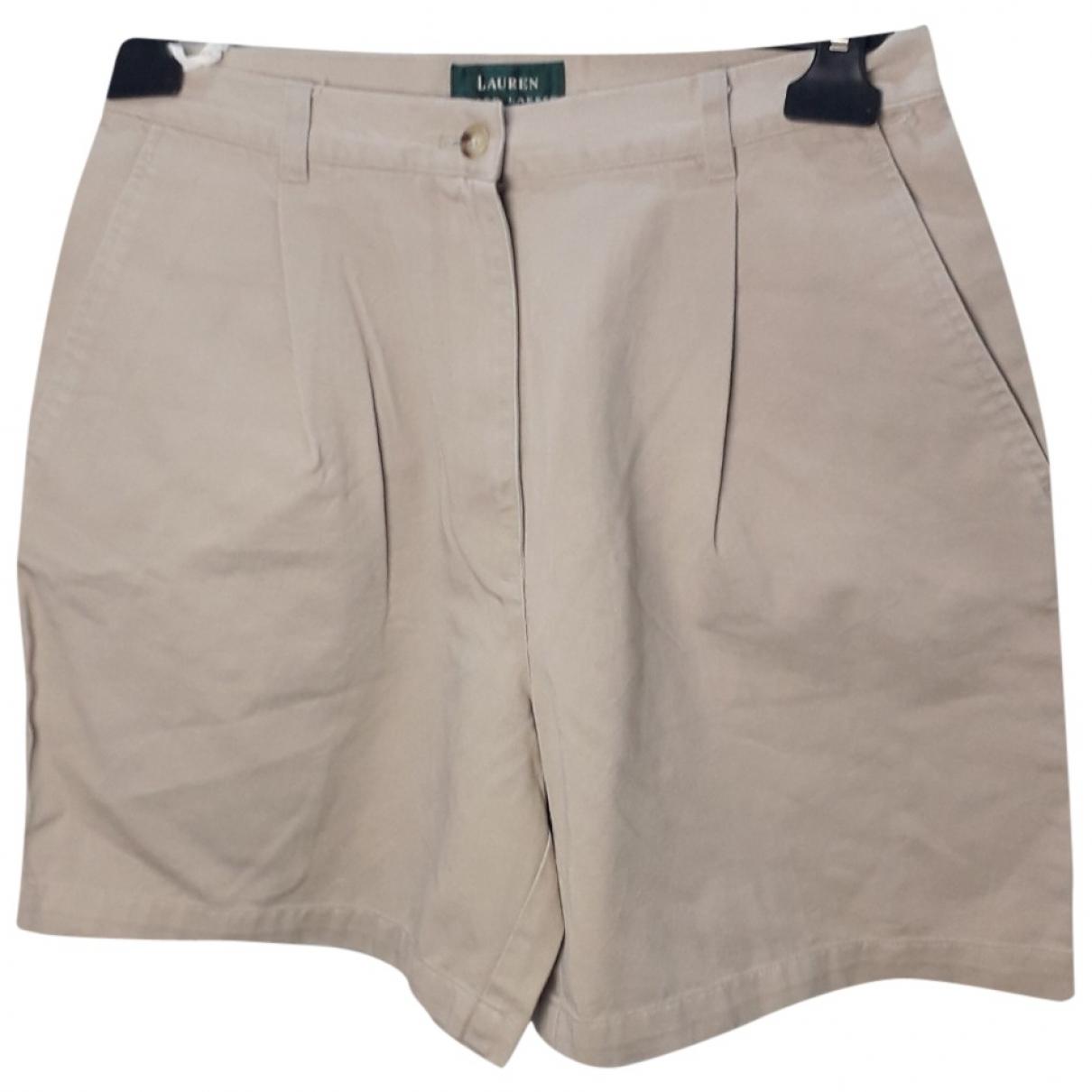 Lauren Ralph Lauren \N Beige Cotton Shorts for Women 8 US