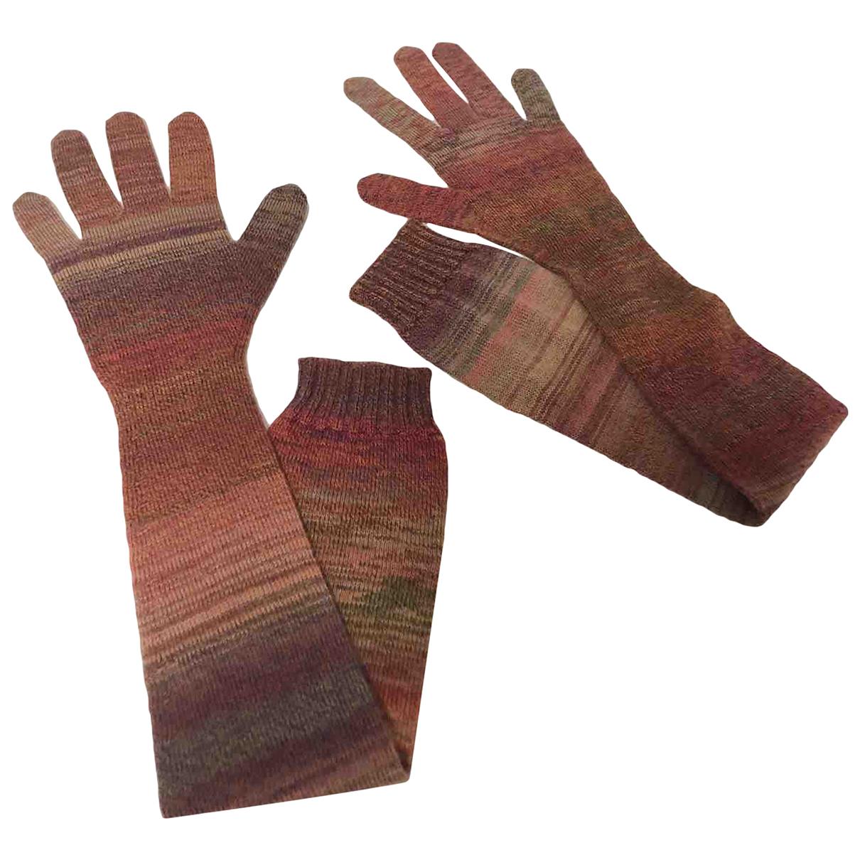 Yves Saint Laurent \N Handschuhe in  Rot Wolle