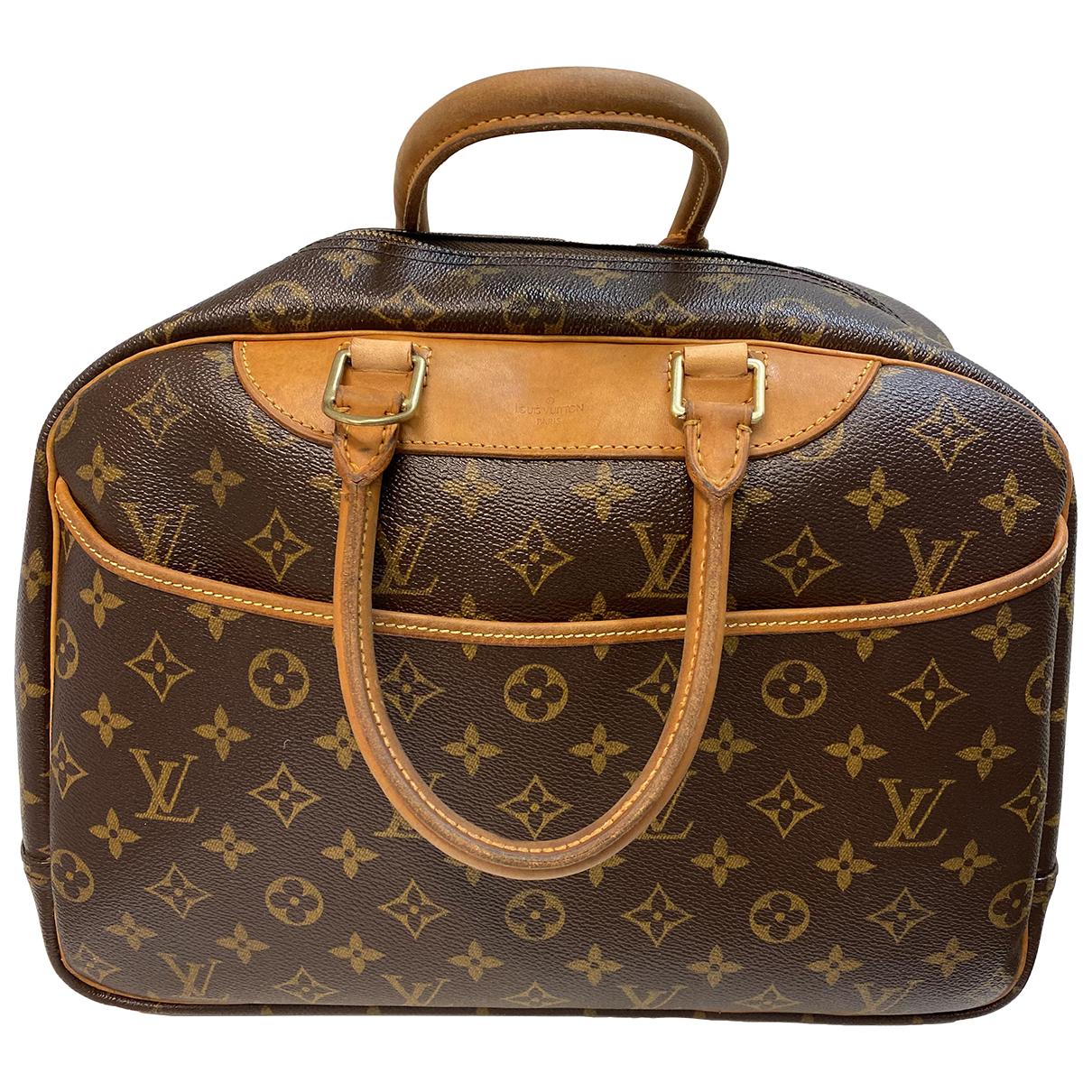 Louis Vuitton - Sac de voyage Deauville pour femme en toile - marron