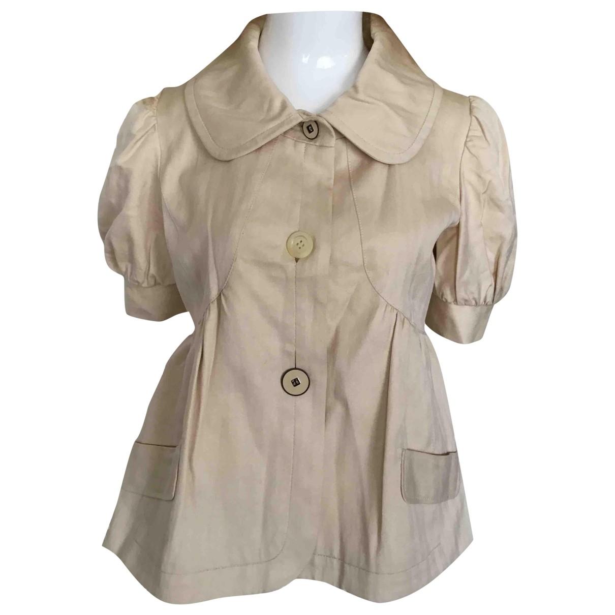 Kenzo \N Ecru Cotton jacket for Women 40 FR