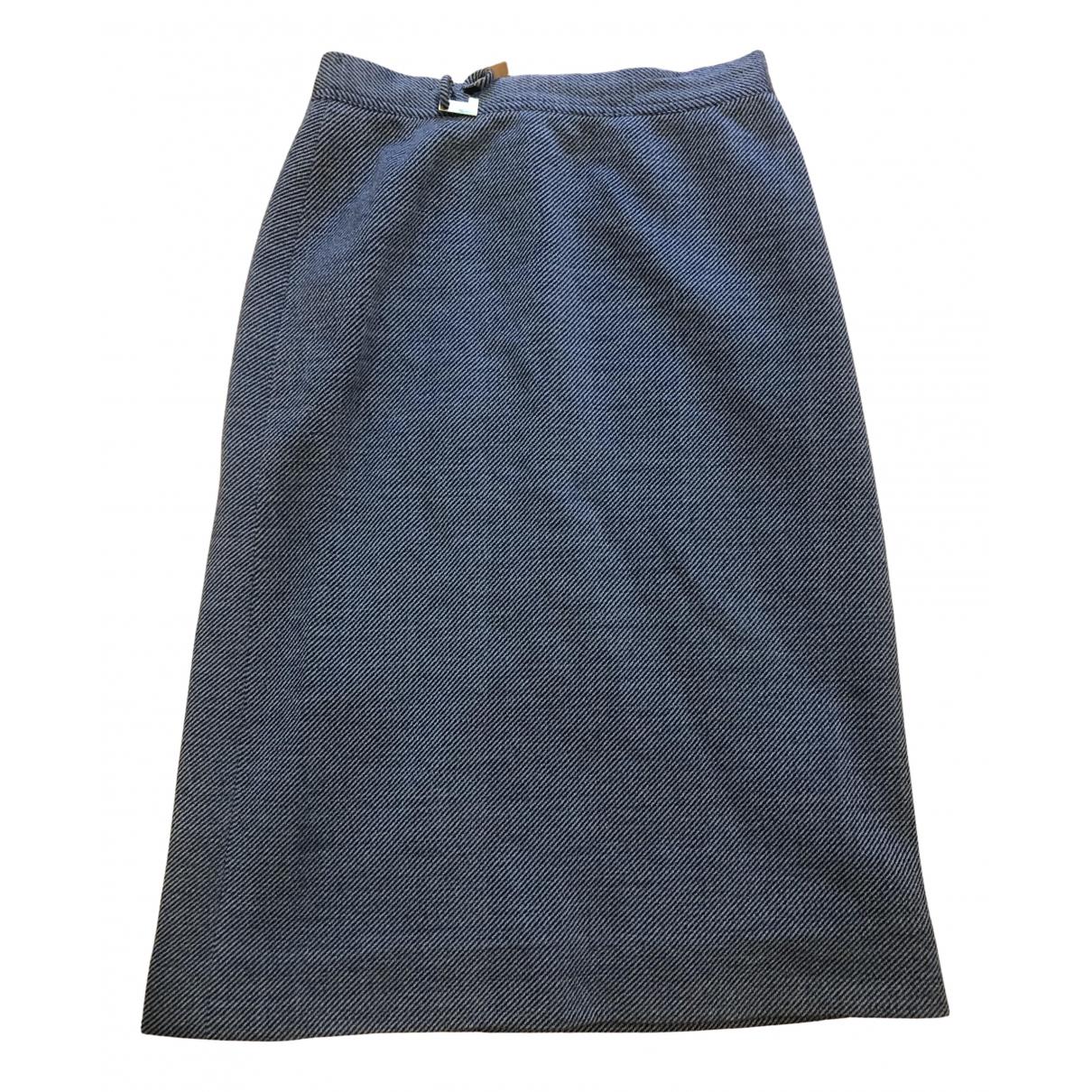 Lanvin \N Kleid in  Blau Wolle